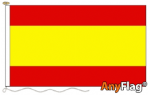SPAIN NO CREST ANYFLAG RANGE - VARIOUS SIZES